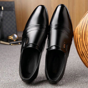 italy pointed toe mens Lazy shoes slip on sapato oxford masculino formal oxford shoes for men wedding leather shoes  A53-51