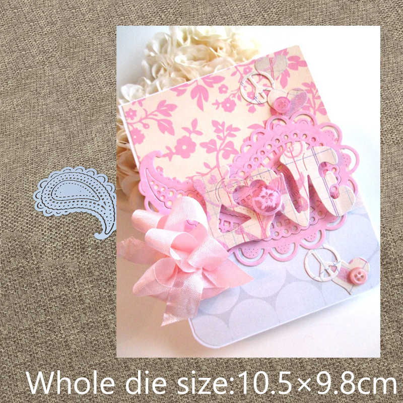 New Design Craft Metal Cutting Die die cuts 3pcs lace water drop feather scrapbooking Album Paper Card Craft Embossing die cuts