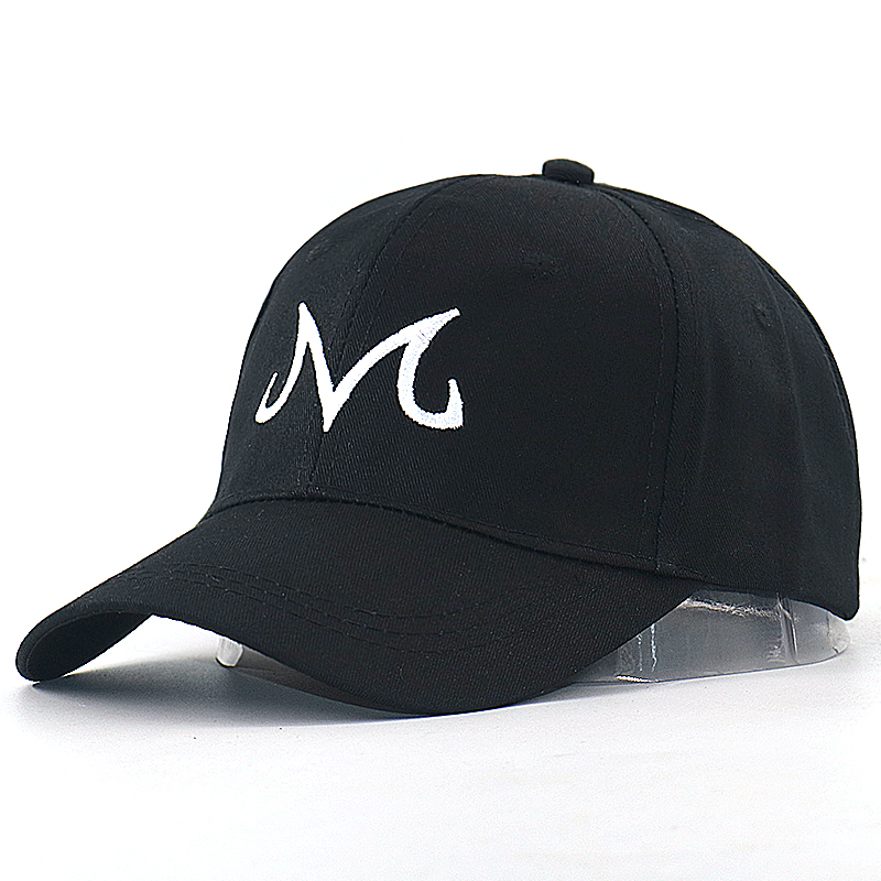 Dragon Ball Baseball Cap M Letter Embroidery Snapback Hat Cotton Adjustable Black Sports Hip Hop Hats My Fashion Panama