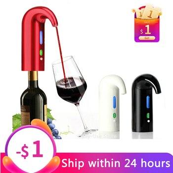 Portable electric wine pourer, Smart Wine Decanter Automatic Red Wine Pourer Aerator Decanter Dispenser Wine Tools Bar Accessori
