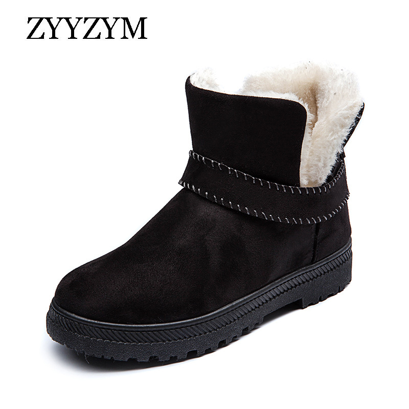 ZYYZYM Women Boots Winter Snow Plush Keep Warm High Top Cotton Shoes Woman Ankle for