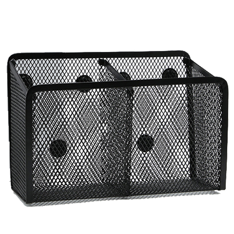 Magnetic Pen Holder 2 Spacious Compartment Magnetic Storage Basket Storage Box Super Magnet Perfect Mesh Pen Holder Can Accommod