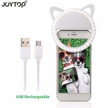 Anillo de luz Led portátil para fotografía, anillo de luz Led para teléfono móvil iPhone y Smartphone con carga USB