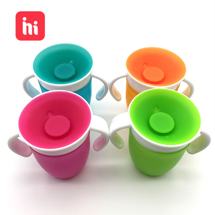 Baby Cups Can Be Turned Magic Cup Baby Learning Drinking Cup Leakproof Child Water Cup Bottle 240ml Copos Learning Cup Baby Cup