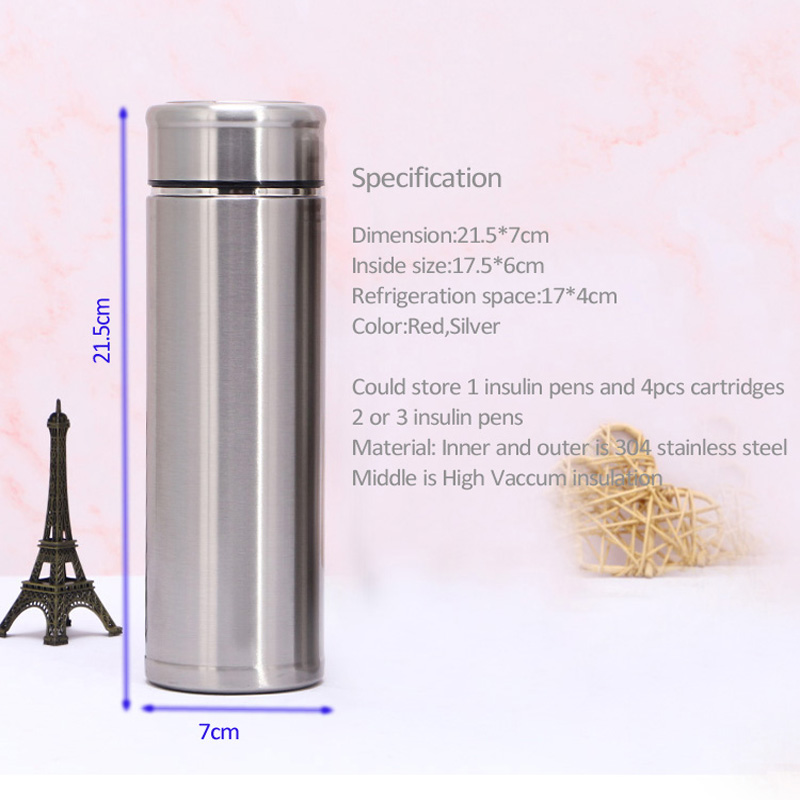 Fashion Cooler Medicina Cooler Sako Portebla Insulated Diabetes Pen Cooler Case Cooler Cooling Fridge Diabetes Refrigerator