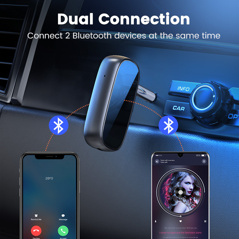 Ugreen Bluetooth Receiver 5.0 aptX LL 3.5mm AUX Jack Audio Wireless Adapter for Car PC Headphones Mic 3.5 Bluetooth 5.0 Receptor 2