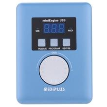 MIDI звуковой модуль Midiplus MiniEngine USB, общий миди генератор 128, стандартные ГМ Тоны, частота дискретизации 48 кГц