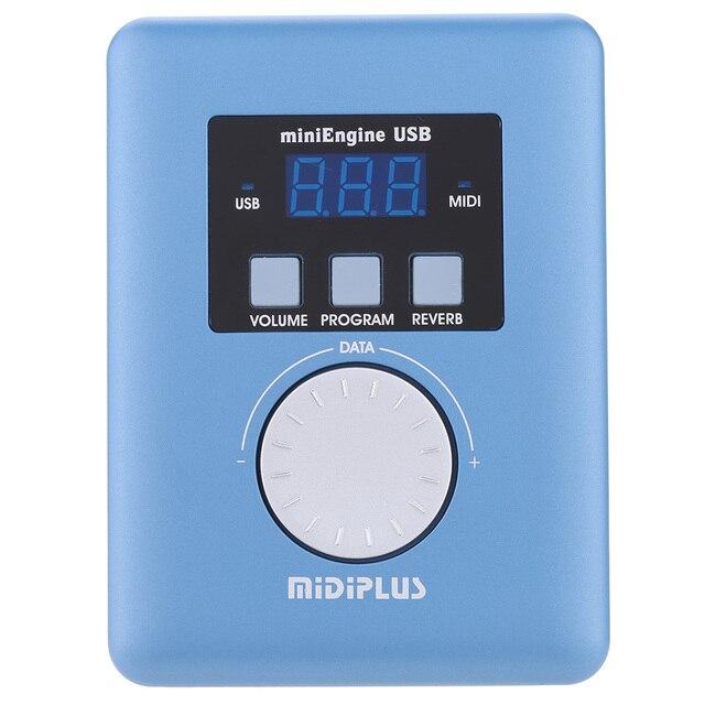 תיק מקלדת MiniEngine USB MIDI קול מודול כללי MIDI גנרטור 128 סטנדרטי GM צלילים 48kHz תדר דגימה