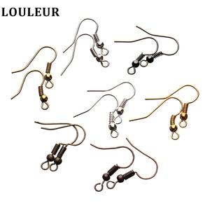 100pcs/lot Ear Hook DIY Earring Findings Earrings Clasps Hooks Fittings DIY Jewelry Making Accessories Iron Hook Earwire Jewelry