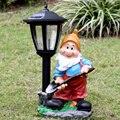 Садовый пейзаж gnome  уличная садовая скульптура  мультяшный гном  солнечный светильник  украшение для двора
