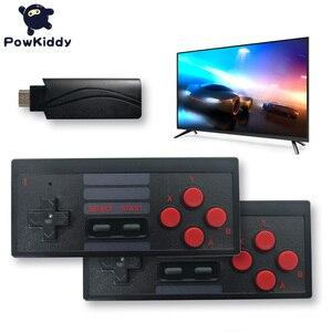 Image 5 - POWKIDDY S3 Console de jeu vidéo USB 8 bits TV sans fil Mini Console de jeu portable construit en 628 classique double manette HDMI/AV sortie