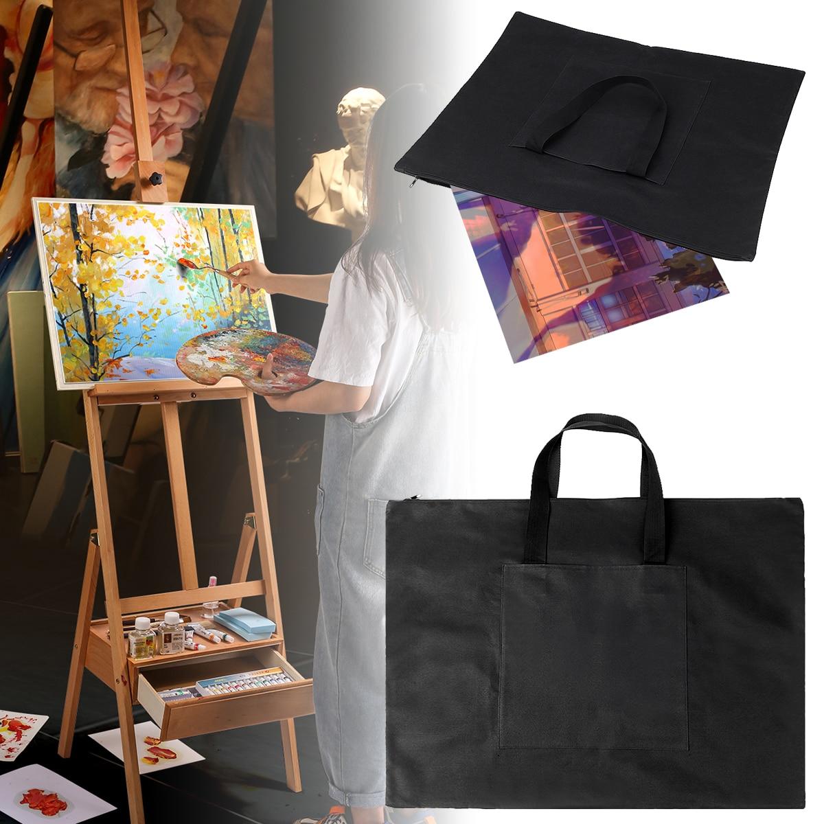 A2 Drawing Painting Board Storage File Bag Document Handbag Drawing Board Bag Adjustable Strap Shoulder Bags Free Shipping