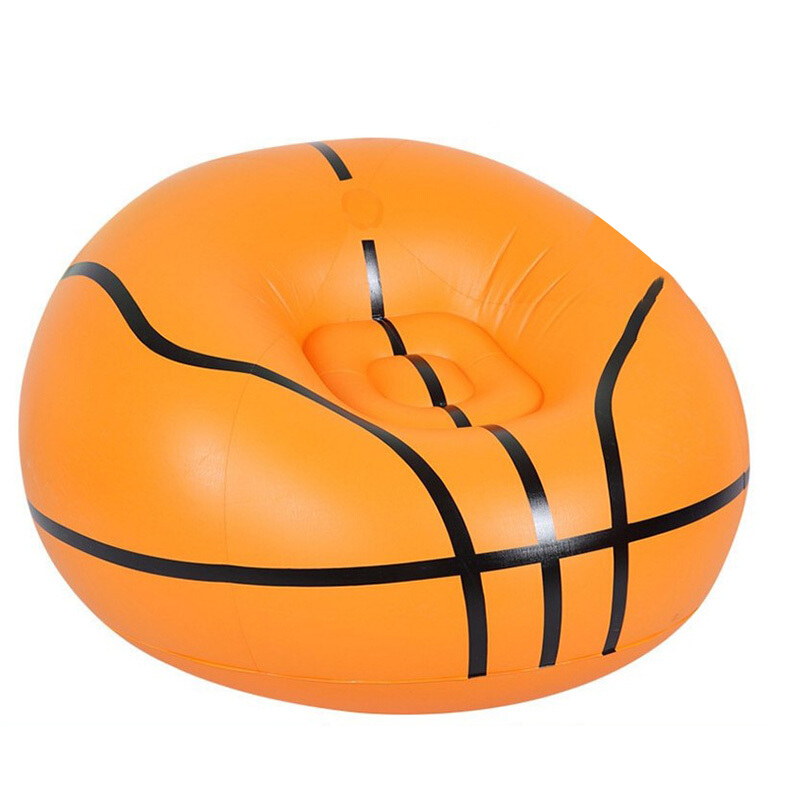 Thicken Football Basketball Flocking Inflatable Chair Air Seat Chair Relax Pouf Home Furniture Outdoor Lazy Chair With Pump