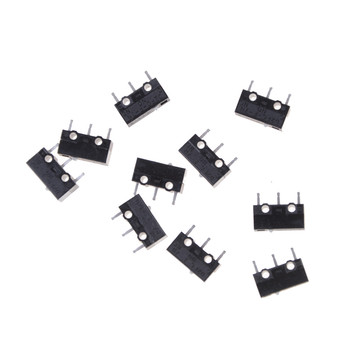 10 Pcs/lot D2FC-F-7N Micro Switch For Mouse Replacement Substitute Tested image