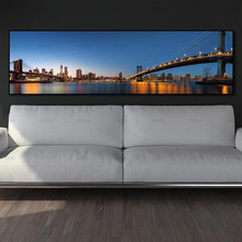 Canvas Print painting wall picture Urban landscape on canvas poster art print