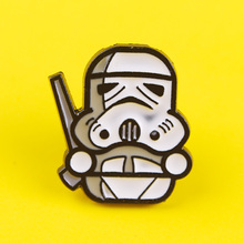цена на Movie Star Wars Brooches Pin Badge On Backpack Baby Yoda Cute Enamel Badges For Clothes Jewelry Decor Lapel Pin For Men Women