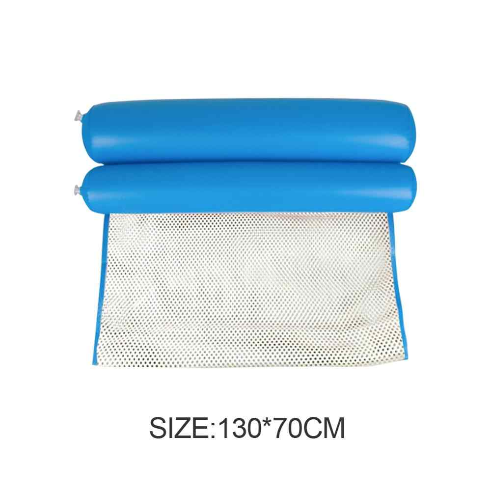 Składany hamak do wody basen dla dorosłych Piscina nadmuchiwany materac krzesło plażowe pływające łóżko krzesło lato