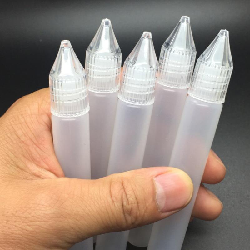 5Pcs/Lot Empty E Juice Needle Bottle Vape Drip Tip 15ml 30ml Plastic Liquid Storage Squeezable Dropper