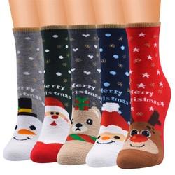 Кавайные носки для женщин и мужчин; Унисекс; Туфли с рождественским принтом в винтажном стиле кашемировая коротких носков с изображениями у...