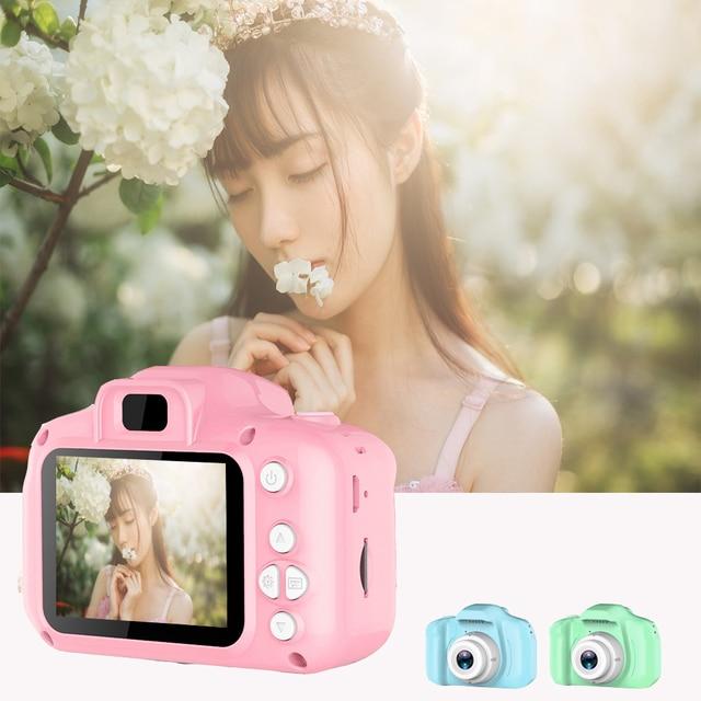 子供キッズカメラ教育玩具ギフトミニデジタルカメラ 1080 投影ビデオカメラと 2 インチディスプレイ画面