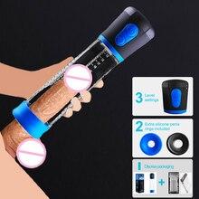 Maschio pompa del pene cazzo pompa per ingrandire cazzo elargement extender pompa a vuoto dispositivo dildo masturbatore adulti giocattoli del sesso per gli uomini