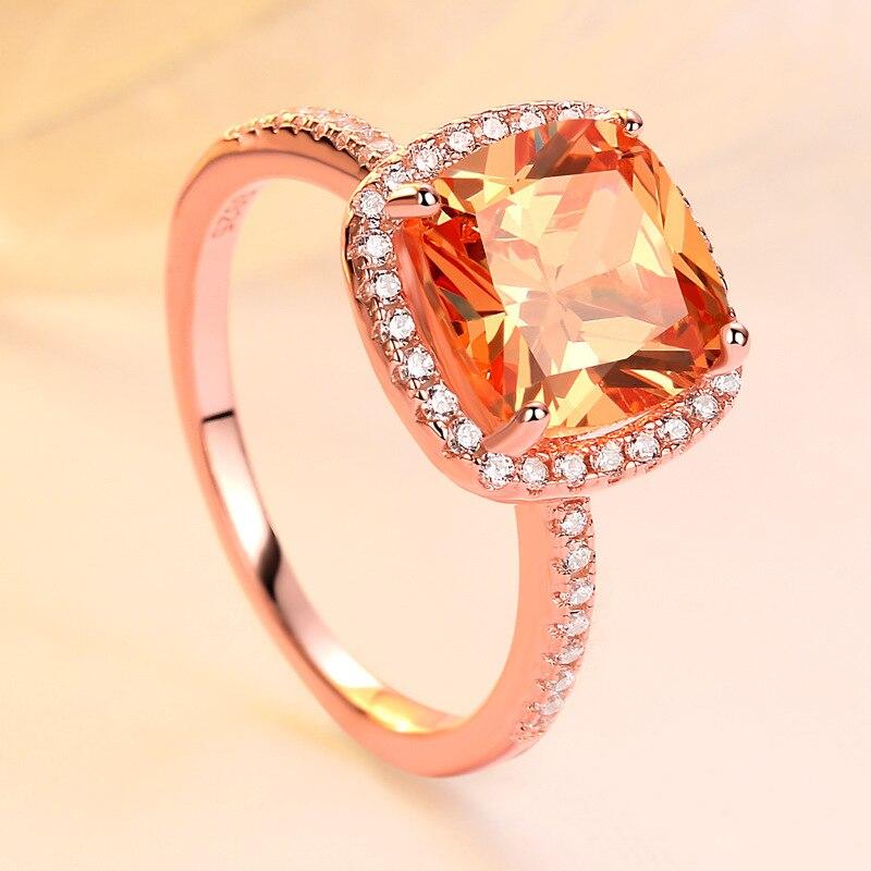 Оптовая продажа ювелирных изделий 925 пробы Серебряное кольцо Halo для женщин морганит обручальные винтажные кольца хорошее ювелирное
