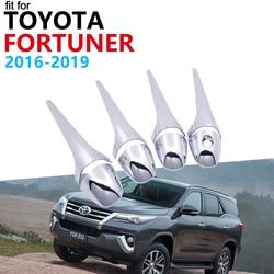 Manija de la puerta accesorios de coche para Toyota Fortuner SW4 AN150 AN160 2016, 2017, 2018, 2019 moldura de cubierta de manija cromada conjunto de pegatinas de coche