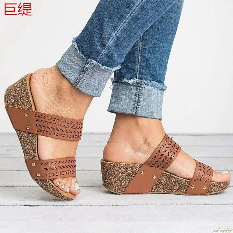 Wedges Shoes Women High Heels Sandals Summer Shoes 2020 Flop Chaussures Femme Platform Sandals 2020 Dropshipping|Middle Heels|   - AliExpress