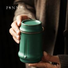 цена на PINNY Bamboo FestivalCoarse Pottery Tea Jar Ceramic Japanese Style Tea Caddy Retro Storage Containers Sealed Jar