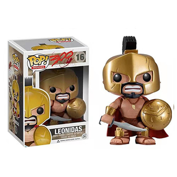 Funko pop movies KING LEONIDAS 16#  Vinyl toys Action Figures child Collection Model dolls birthday gifts with box funko pop back to the future 2 marty mcfly dr emmett brown vinyl dolls action figure collectible model toys for child with box