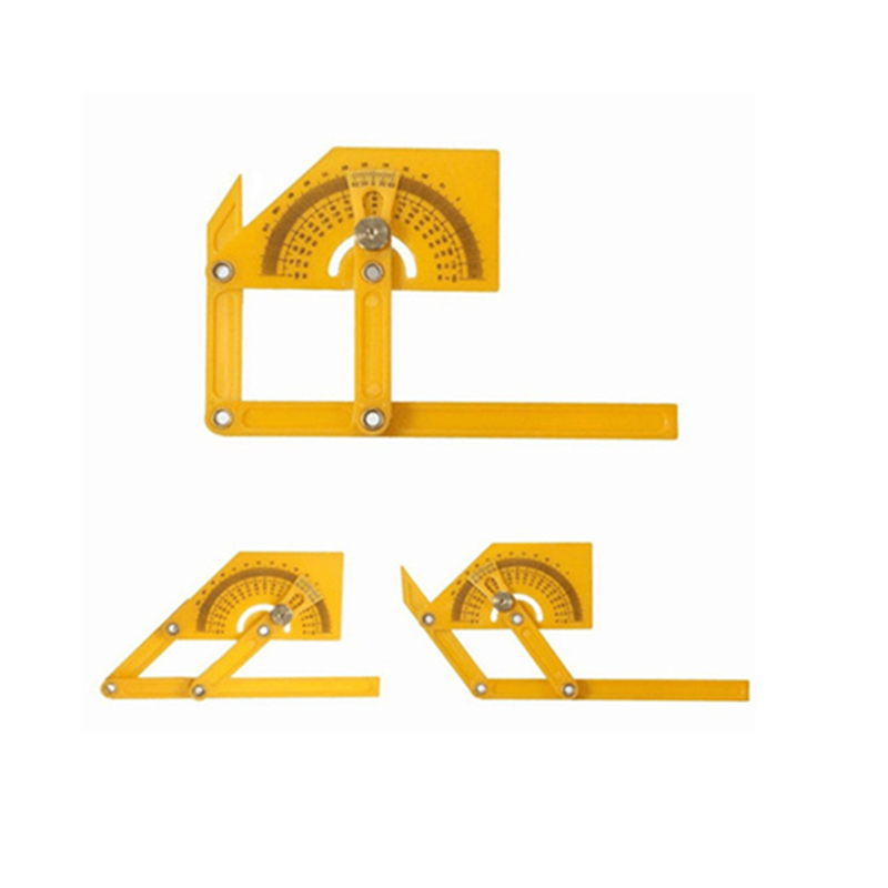 1PC Goniometer Angle Finder Miter Gauge Arm Measuring Ruler Tool Plastic Protractor Hand Tools