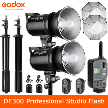 Godox DE300 300W Professional Studio Strobe Flash Lamp GN58 Photography lighting for Portrait Art Photo Product