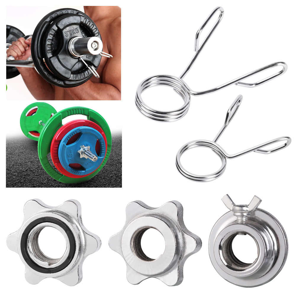4pcs Weight Spin Lock Screw Barbell Bar Clips Check Nut Dumbbell Spinlock Collar