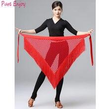 Jupe à franges pour adulte, écharpe de hanche, à Double pompon, pour salle de bal, Yoga, Tango, Cha Cha, danse latine
