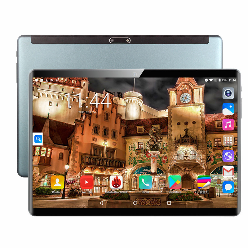 2020 MT8752 10.1» la Tablette Android 9.0 8 Core 6 GO + 128 GO ROM Double Caméra 8MP SIM Tablette PC Wifi micro Usb GPS bluetooth téléphone