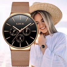 LIGE Women Watches Luxury Brand Fashion