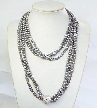 Unique Pearls jewellery Store 100cm Baroque Real Freshwater Pearl Necklace Charming Women Gift Fine Jewelry