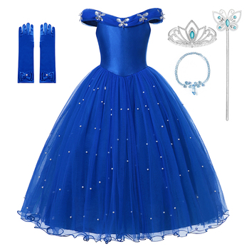 Princess Girls Tulle Dress Halloween Cosplay Fancy Clothing Party Dress Up Costume Girls Princess Carnival Outfit princess peach super mario bros costume classic game mario costume kids girls carnival cosplay party dress