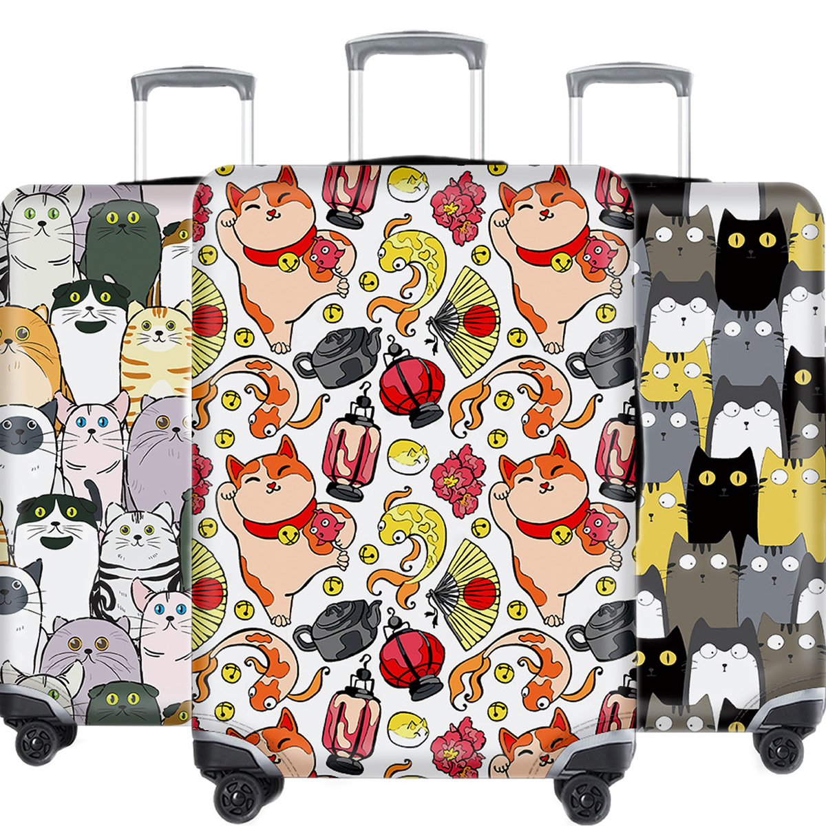 Cartoon Animal Suitcase Cover Travel Accessories Kawaii Waterproof Elastic Luggage Case Protective Dust Cover Apply 18-32Inch