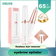 ANLAN New Design Electric Eyebrow Trimmer Makeup Painless Eye Brow Epilator Mini Shaver Razors Portable Facial Hair Remover(China)