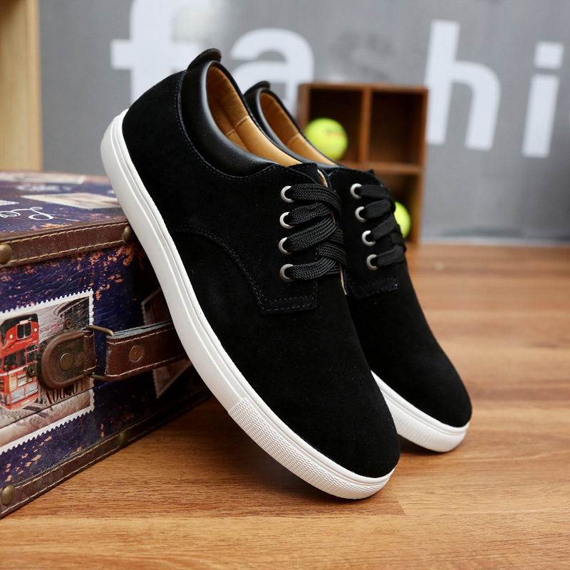 Spring/Autumn 2019 New Men Shoes Fashion Sneakers Casual Luxury Shoes Men Cow Suede Lace-up Low-cut High Quality Plus Size 38-49 2