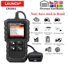 LAUNCH X431 CR3001 Full OBD2 Scanner OBD 2 Engine Code Reader Creader 3001 Car Diagnostic tool free update PK CR319 ELM327(China)