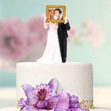Стильные подарки, коллекционные фигурки, украшения для торта, свадебный подарок, топперы для торта, для невесты и жениха, вечерние, элегантные