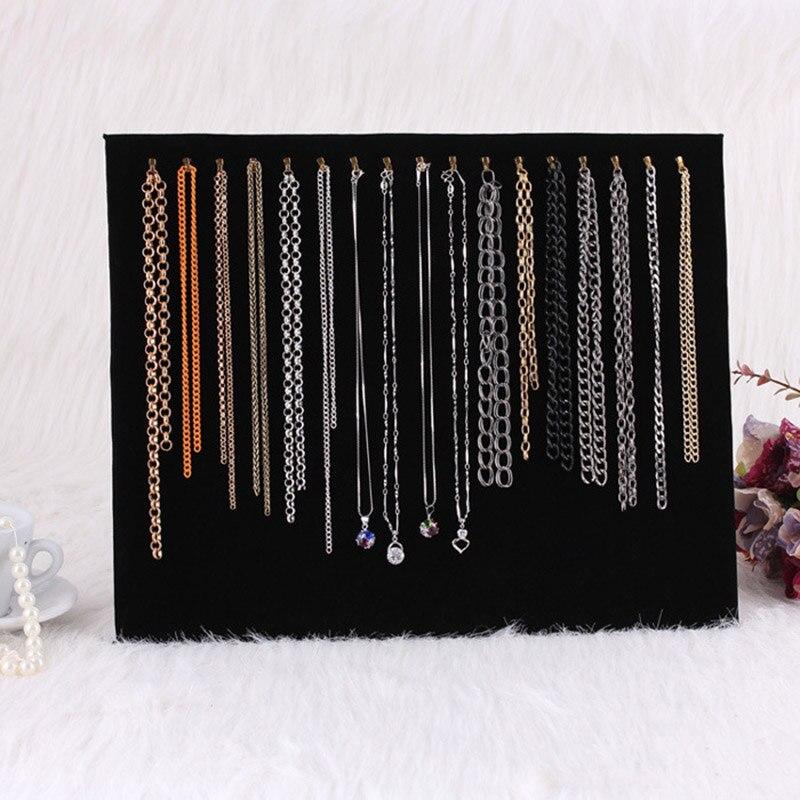 17 Hooks Jewelry Fashion Organizer Display Stand Necklace Dangling Pendant Chain Rack Joyeros Organizador De Joyas 2019