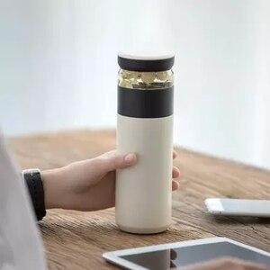 Image 3 - オリジナル youpin 楽しいホームポータブル水真空カップ 520 ミリリットル屋外走行茶水分離ボトル暖かい 3 1 でオフィスボトル