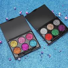 6 Color/Box Shine Powder Eye Shadow Pearl Light Shimmering Exceed Flash Blasting Stage Makeup with Brush