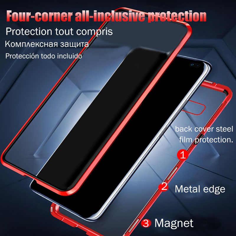 المغناطيسي الامتزاز الزجاج حقيبة لهاتف سامسونج galaxy A50 A30 A20 A10 A40 A70 A7 2018 S8 S9 S10 ملاحظة 8 9 10 زائد للصدمات غطاء