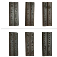 Wooden Paperweights Chinese Calligraphy Ink Brush Painting Paperweights Students Creative Classical Solid Wood Paperweight