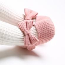 Милая Осенняя Нескользящая Повседневная прогулочная обувь для маленьких девочек; кроссовки с бантом на мягкой подошве; обувь для первых шагов