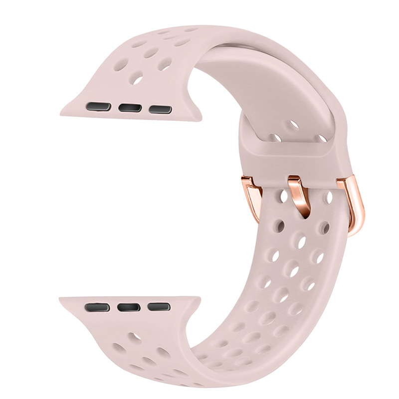 Applicable APPLE Watch Nike Button Watch Strap For Apple Silicone Watch Strap 1234 Generation New Style Wrist Strap